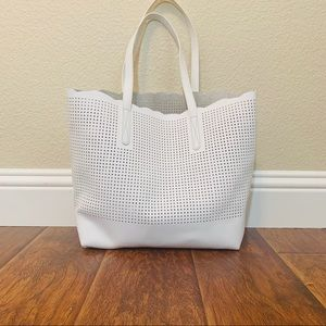 Neiman Marcus Perforated Tote